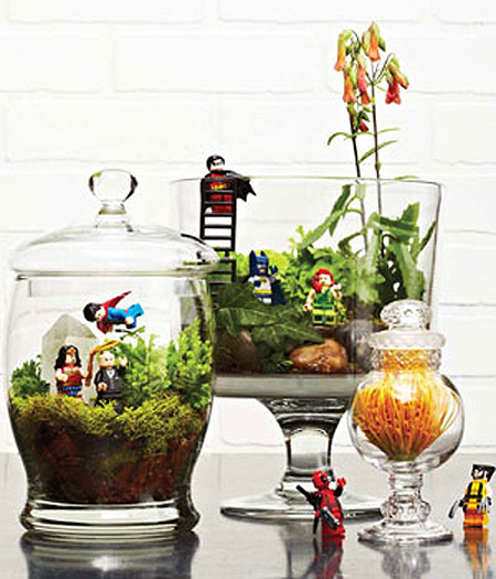 Legos make great additions to a kids terrarium, like these two from ...